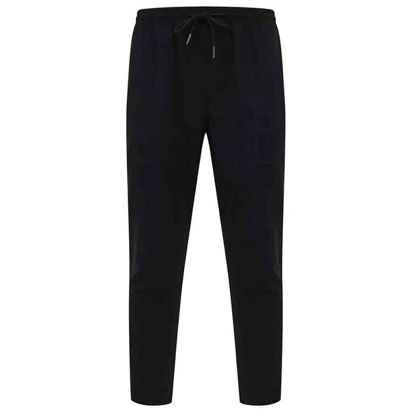 Eamon Check Smart Jogger Trousers In Black