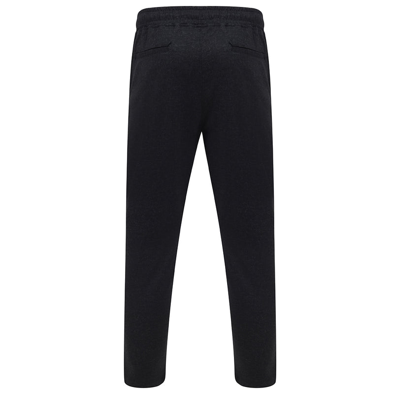 Ezrah Twill Jogger Trousers In Charcoal