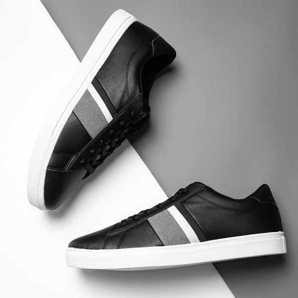 Fabian Black Trainers With Contrasting Stripes