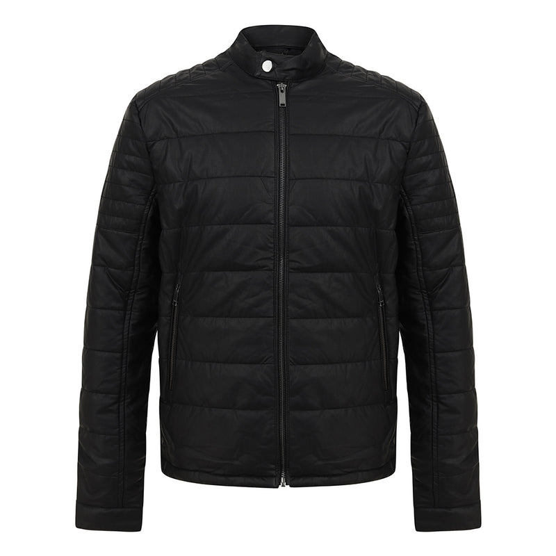 Filip Faux Leather Biker Jacket