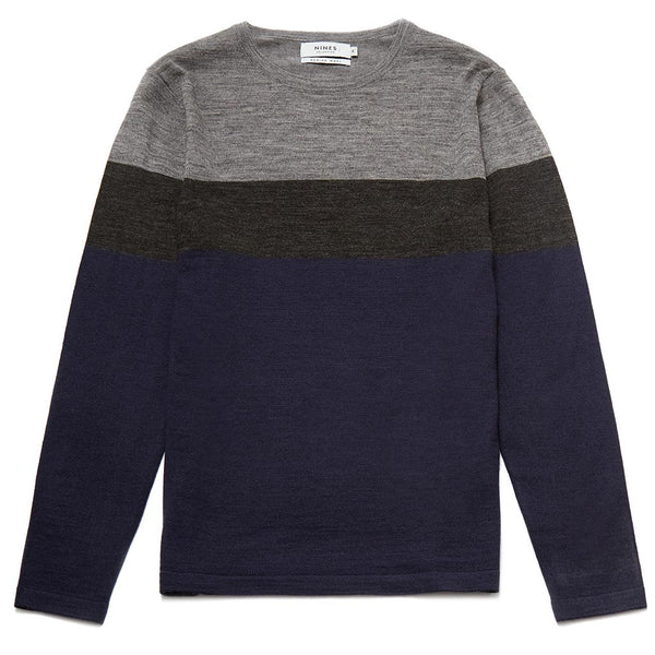 Hickman Merino Wool Blend Stripe Jumper