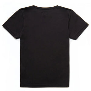 Finnegan Mercerised Roman Numeral T-Shirt in Black