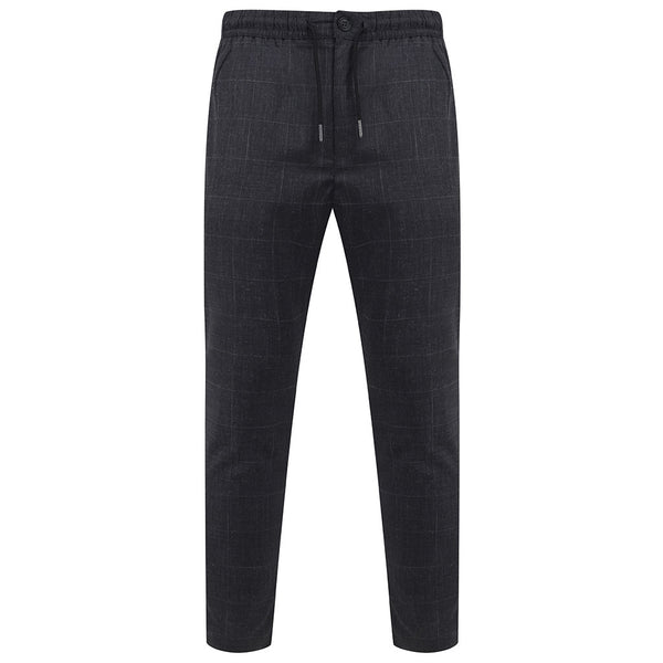 Kylar Smart Jogger Trousers In Grey Check