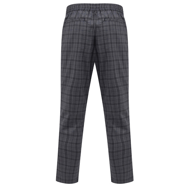 Leeland Smart Jogger Trousers In Grey Check