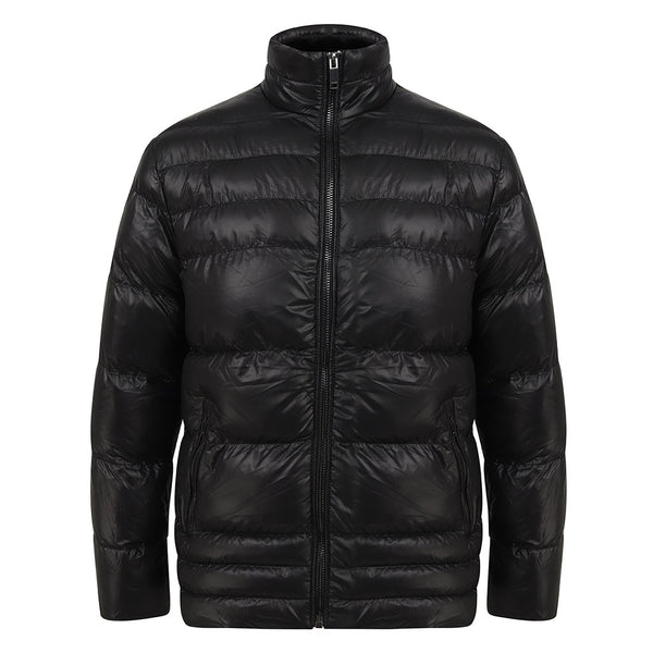 Naworth Shiny Puffer Jacket In Black
