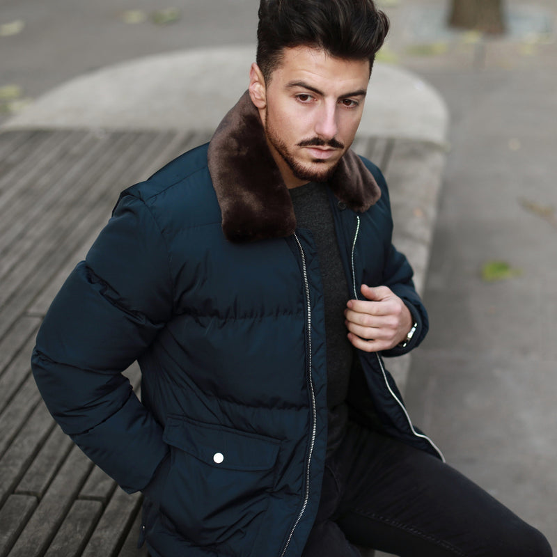 Lahaina Puffer Jacket in True Navy - Nines Collection