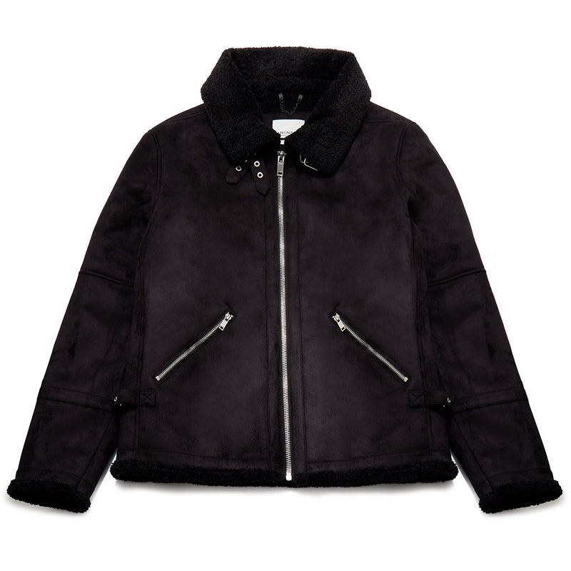 Olof Borg Suede Jacket In Black