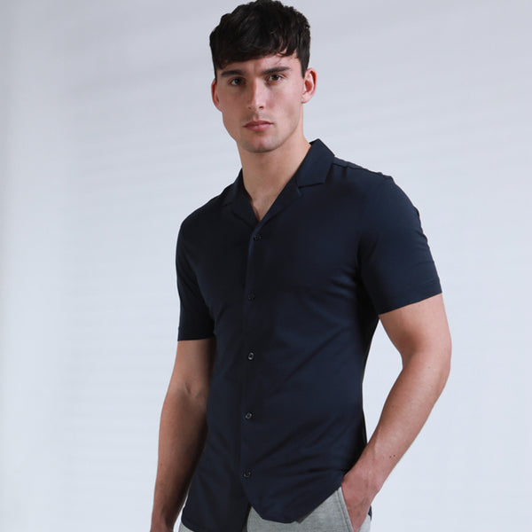 Petrosa Mercerised Revere Collar Shirt