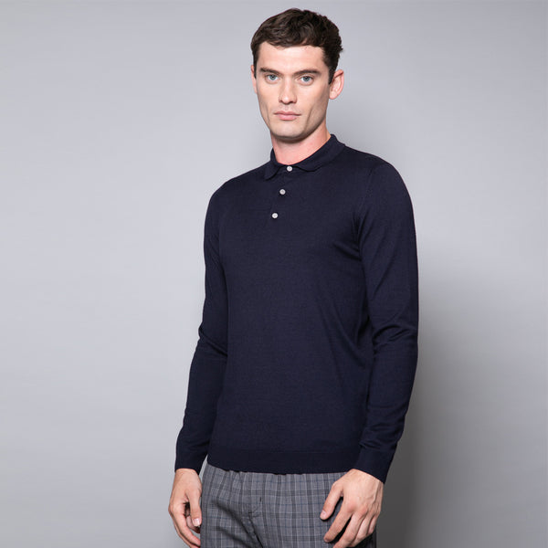 Proudlock Long Sleeve Button Neck Polo