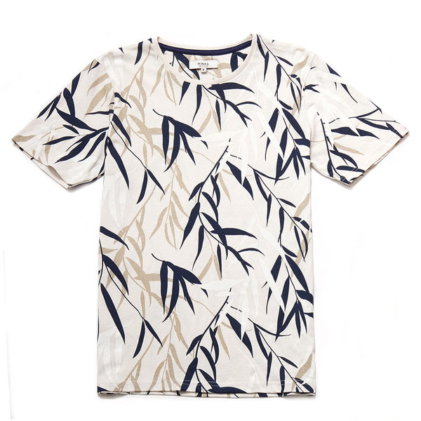 Pape White Floral Print Cotton T-Shirt