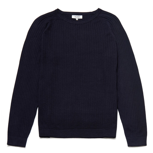Percy Crew Neck Jumper With Raglan Sleeves