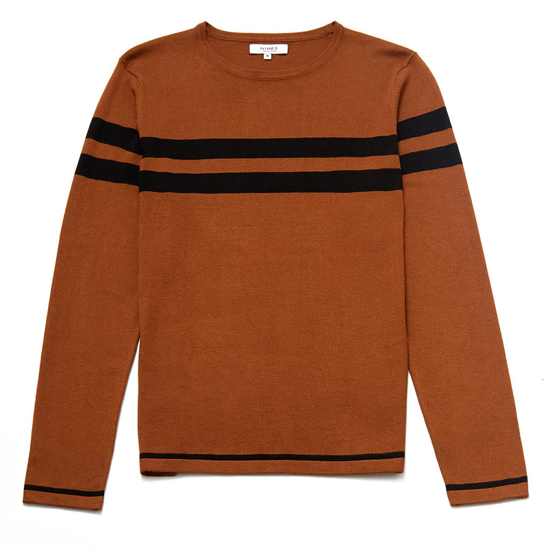 Randolph Crew Neck Jumper With Stripe