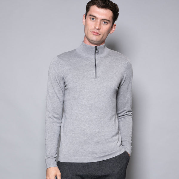 Wilsham Mens Zip Neck Jumper