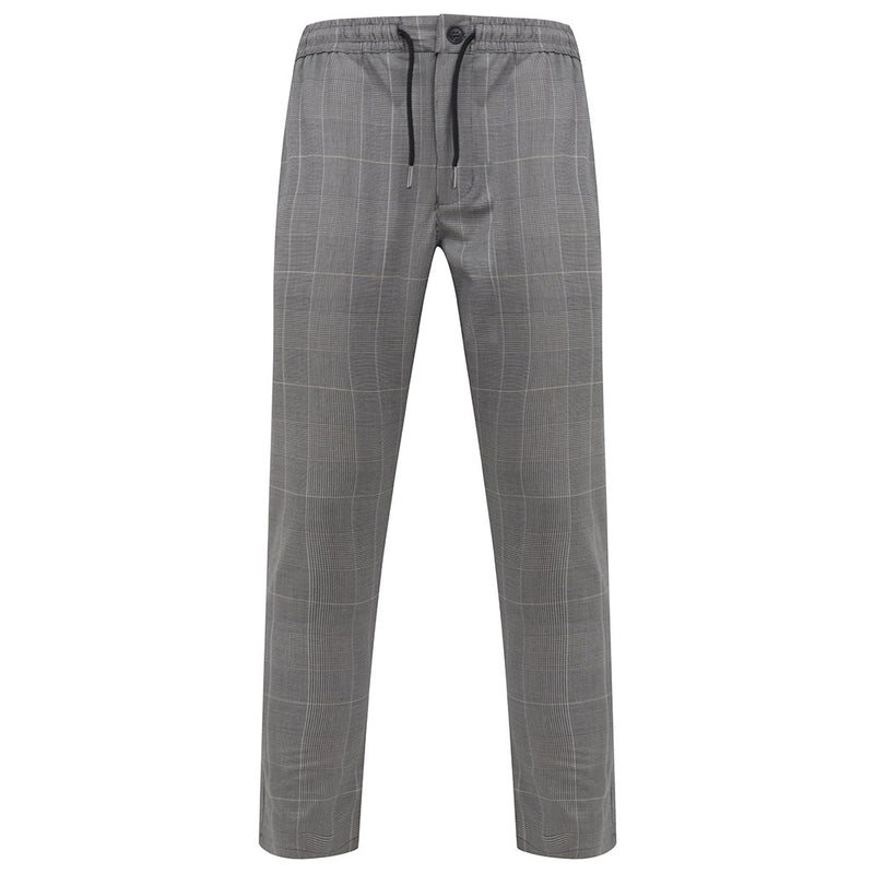 Whitelaw Smart Jogger Trousers In Grey Check