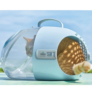 Space Age Open View Pet Carrier Carry Box for Cat & Dogs