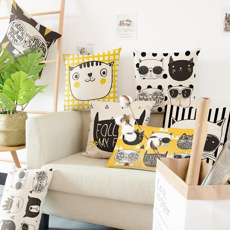 Creative Cat Portrait Cushions
