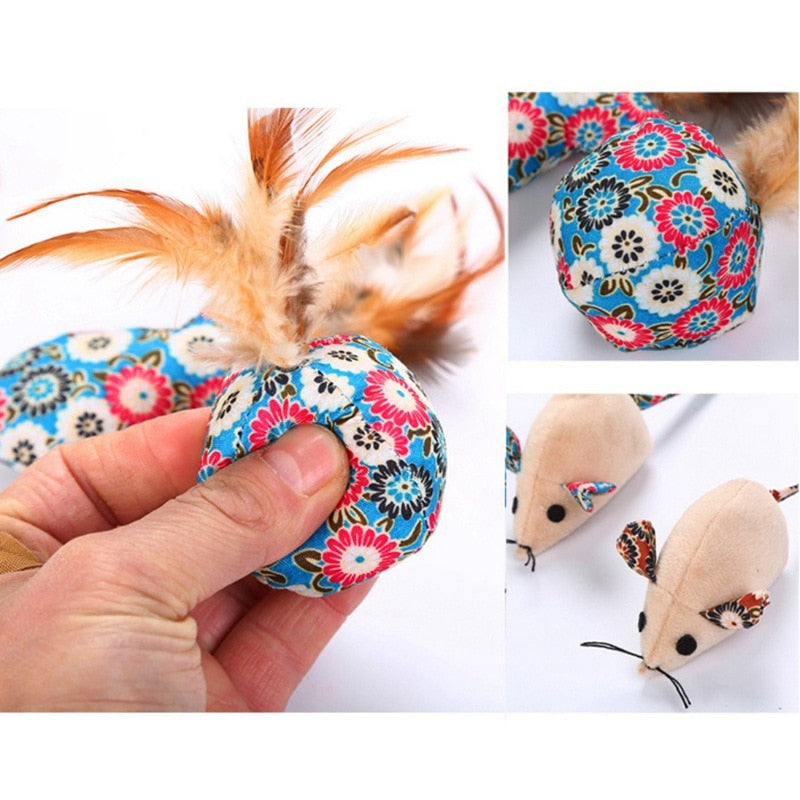 Catch the Mice - Cloth Toys stuffed with Catnip (4 pcs set)