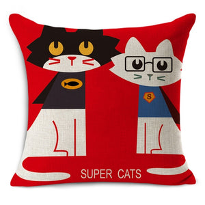 Super Cats Home Cushion Pillow Cases