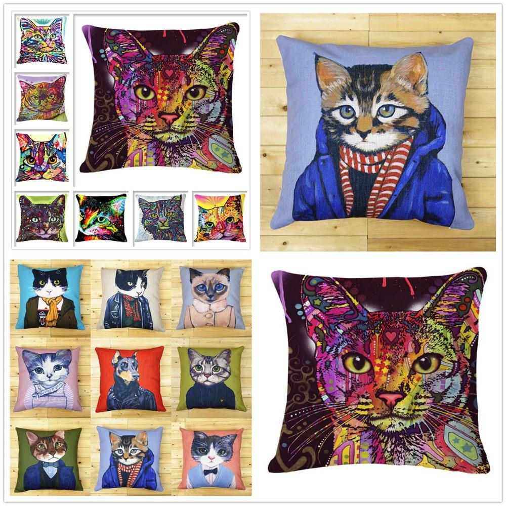 Cats with Personality Home Cushion Pillow Cases