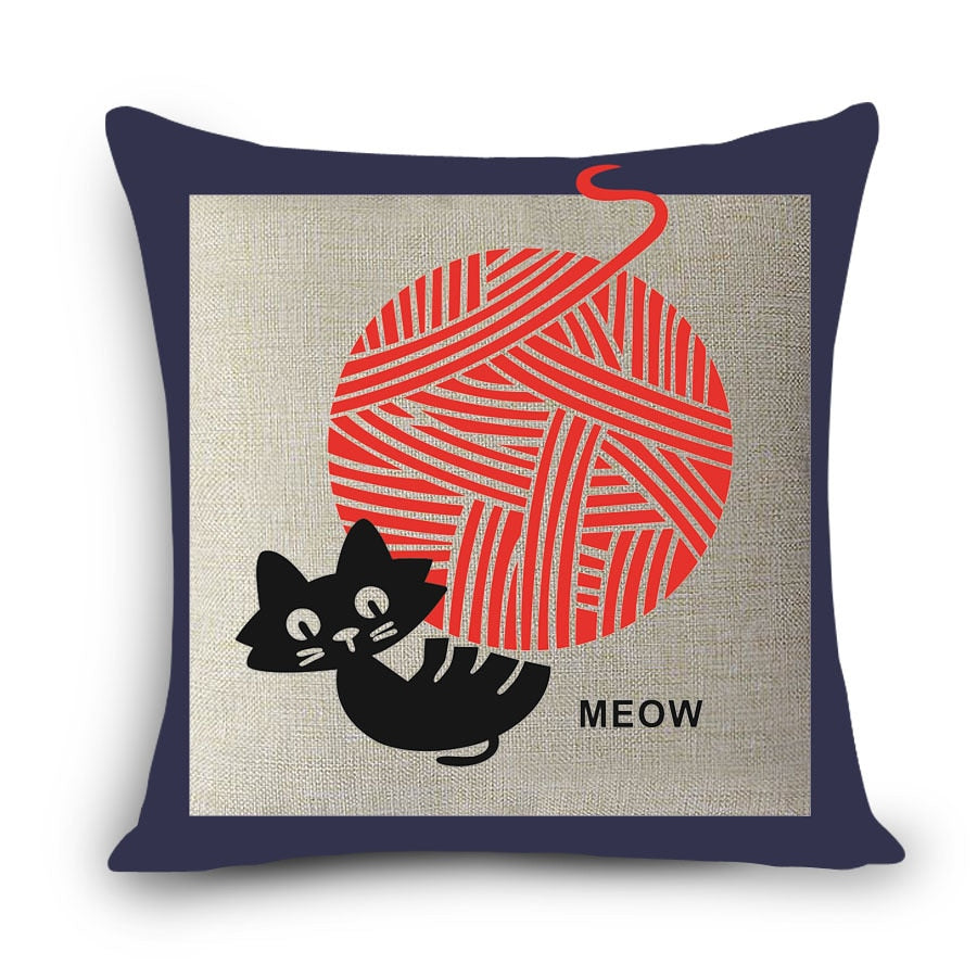 Cat Art Home Cushion Pillow Cases