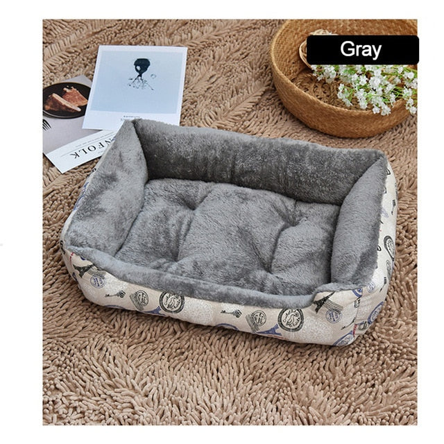Soft & Warm Fleece Pet Bed Basket