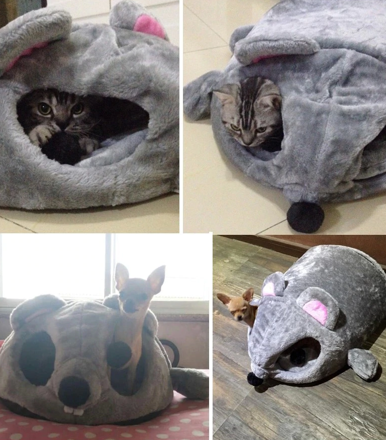 Mouse Shaped Cat Bed