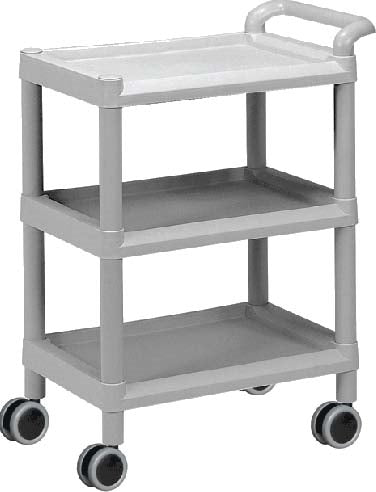 ABS Plastic Utility Cart: Small, No Drawer - CAM SUPPLY INC. DBA WABBO