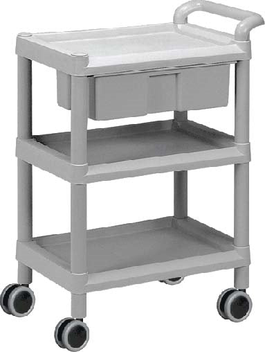 ABS Plastic Utility Cart: Small, With Drawer - CAM SUPPLY INC. DBA WABBO