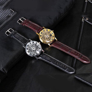 Vintage Hollow Mechanical Design Couple Watch