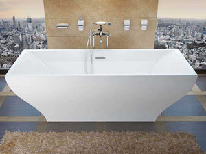 Venzi Prima, 32 x 71 Freestanding One Piece Soaker Tub with Center Drain By Atlantis