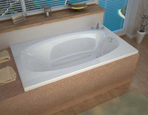 Venzi Grand Tour Talia 36 x 72 Rectangular Air & Whirlpool Jetted Bathtub with Right Drain By Atlantis
