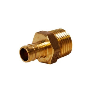"PEX Crimp 1/2"" SDR9 CTS  X 3/4"" MIP Adaptor Brass (Lead Free)"
