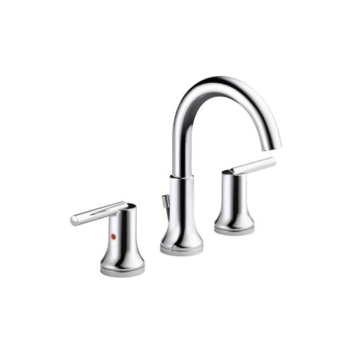 DELTA TRINSIC: WIDESPREAD BATH FAUCET W/ METAL POP-UP CHROME