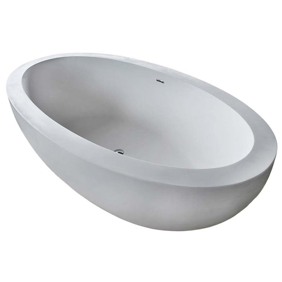 Venzi PietraStone 42 x 75 Man Made Stone Freestanding Bathtub with Center Drain By Atlantis