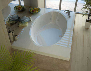 Venzi Viola 42 x 72 Rectangular Whirlpool Jetted Bathtub with Center Drain By Atlantis