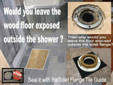 HAP Toilet Flange Tile Guide | 1/4 in. to 3/8 in stackable for thicker tile | Hug A Plumber 93-L977-LNTV