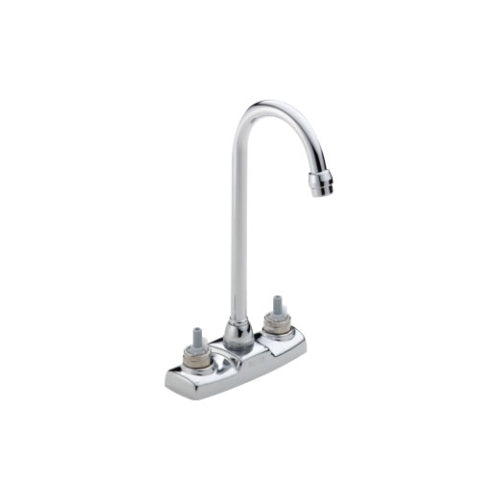 DELTA CLASSIC HIGH RISE BAR FAUCET LESS HANDLES 4CC 2 OR 3 HOLE CHROME