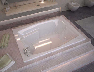 Venzi Capri 54 x 72 Rectangular Air Jetted Bathtub with Left Drain By Atlantis