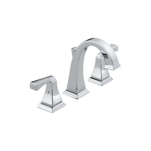 DELTA DRYDEN: TWO HANDLE WIDESPREAD LAVATORY FAUCET CHROME