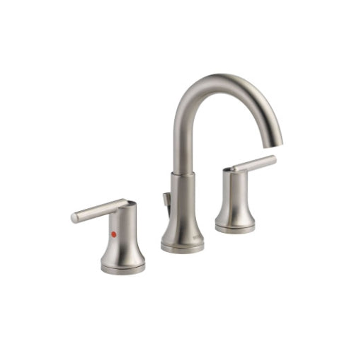 DELTA TRINSIC: WIDESPREAD BATH FAUCET W/ METAL POP-UP STAINLESS