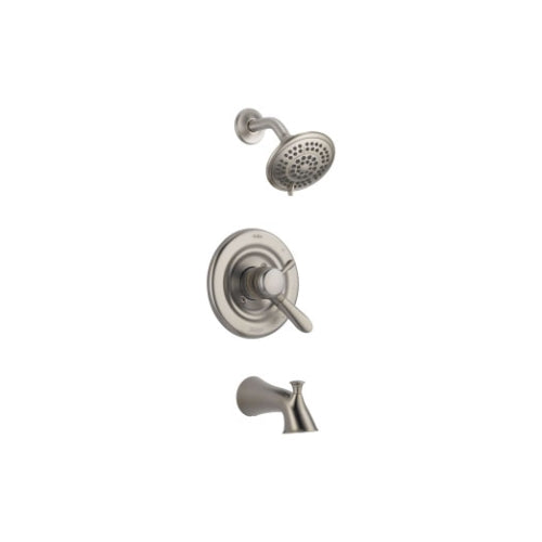 DELTA LAHARA TUB & SHOWER TRIM- LEVER HANDLES- DUAL FUNCTION- BRILLIANCE STAINLESS