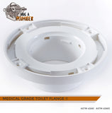 "Medical Grade Toilet Flange with Watertight Design, Solvent Weld, Leakages Free, IAPMO's certified, 3"" inside 4"" outside 