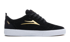 Bristol - Black/Gold Suede