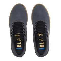 Bristol - Charcoal/Gold Suede