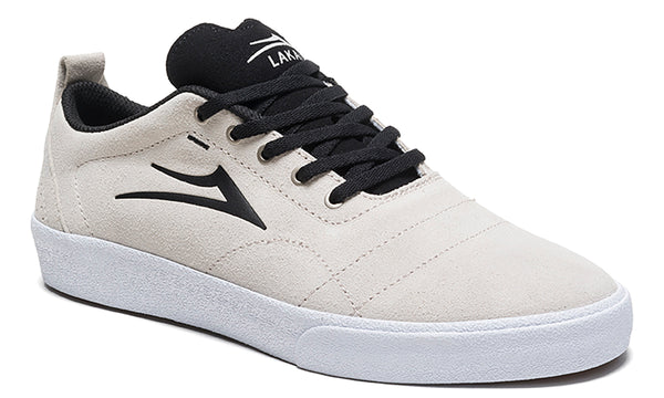 Bristol - White/Black Suede