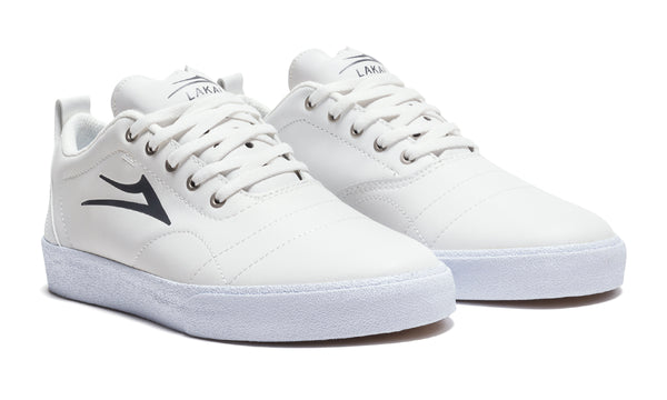Bristol - White/Charcoal Leather