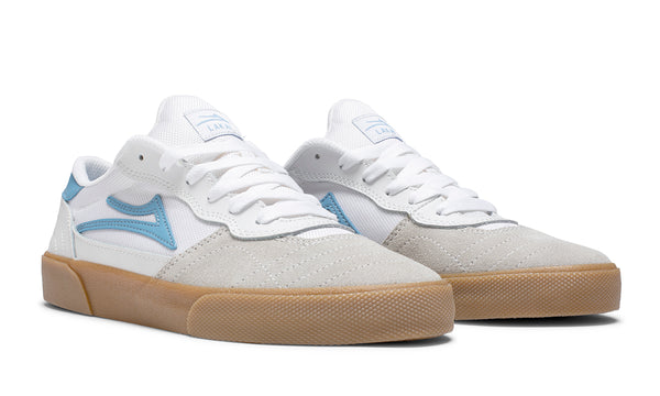 Cambridge - White/Light Blue Suede