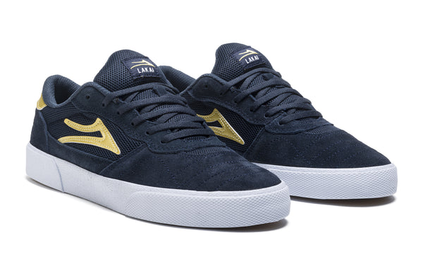 Cambridge - Navy/Gold Suede