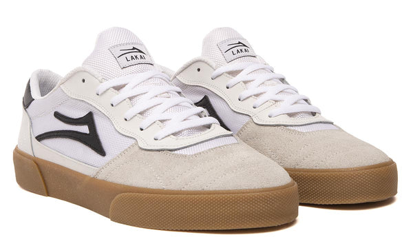 Cambridge - White/Black Suede