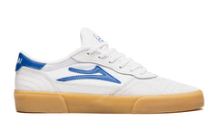 Cambridge - White/Blue Suede